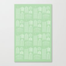 Birdcages (Green) Canvas Print