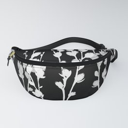 Pussywillow Silhouette — Black & White Fanny Pack