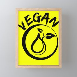 Vegan symbol Framed Mini Art Print
