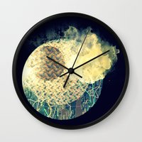 atlas Wall Clocks featuring Atlas Planet by Jasmine Smith