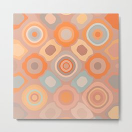 Tokens Abstract Pattern Orange Metal Print