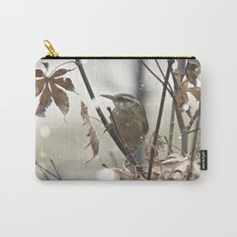 Carolina Wren in Winter Carry-All Pouch