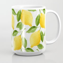 Watercolor Lemons Coffee Mug