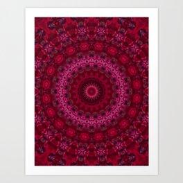 Pink crimson kaleidoscope Art Print