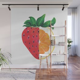 Strawberry Orange Wall Mural
