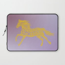 Strong & Courageous Laptop Sleeve