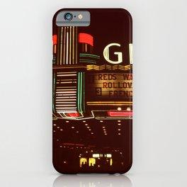 Night Lights Granada Theater, Ithaca NY iPhone Case