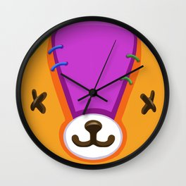 Animal Crossing Stitches the Cub Wall Clock