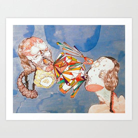 argue argue Art Print