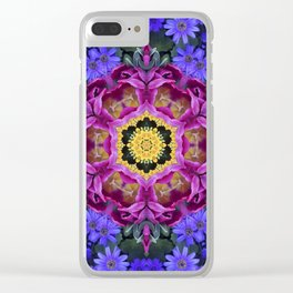 Floral finery - vivid kaleidoscope 20170321_135334 e k1 Clear iPhone Case