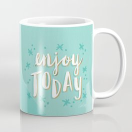 Enjoy Today – Mint & Gold Palette Coffee Mug