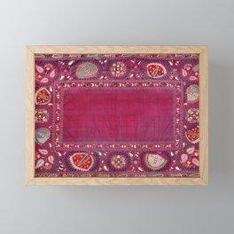 Shakhrisyabz  Southwest Uzbekistan Suzani Embroidery Print Framed Mini Art Print