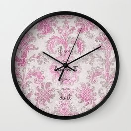 you can tapestry v. pink & raspberry Wall Clock