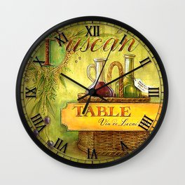 028 Wall Clock Table with wine bottles Wall Clock