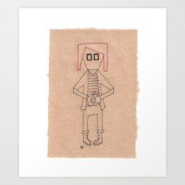 M || SquareEyes Art Print
