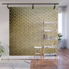 Gold Painted Metal Stylish Design Wall Mural