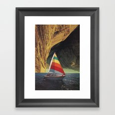 On Holiday Framed Art Print