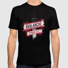Final Fantasy VII - Avalanche Member's Only Black Mens Fitted Tee X-LARGE