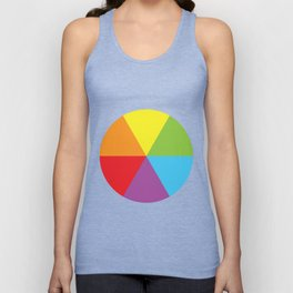 rainbow colour wheel Unisex Tank Top