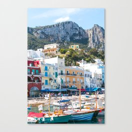 Boats in Capri, Italy Canvas Print