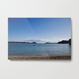Chilling on the beach in Oamaru Bay, Coromandel Metal Print