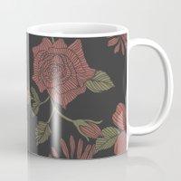 flora Mugs featuring Flora by Norman Duenas