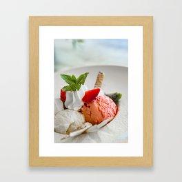 Strawberry ice cream Framed Art Print