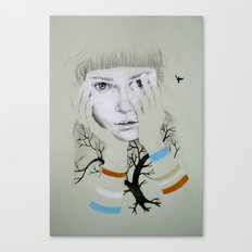 She, Tree Canvas Print