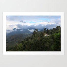 A house in the mountains  Art Print