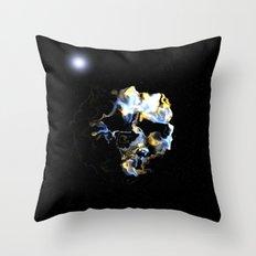 Ghostly Nebulae Throw Pillow