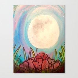 Poppy Moon Canvas Print