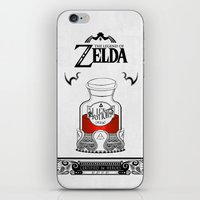 the legend of zelda iPhone & iPod Skins featuring Zelda legend - Red potion  by Art & Be