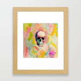 A Happy Skull Framed Art Print