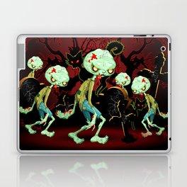 Zombie Creepy Monster Cartoon on Cemetery Laptop & iPad Skin