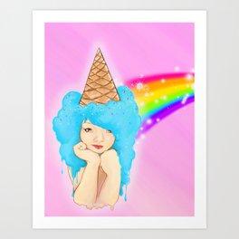 ice cream princess Art Print