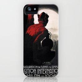 Vintage poster - Milan iPhone Case