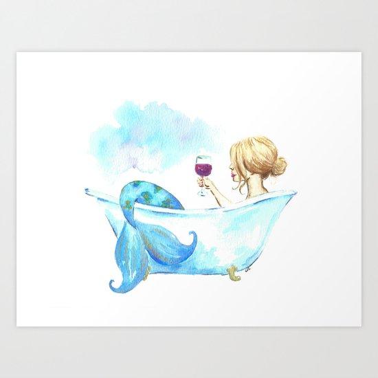 Bathtub Mermaid by imagodeinurserydecor