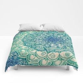 Emerald Doodle Comforters