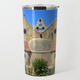 Arkadi Monastery landmark Travel Mug