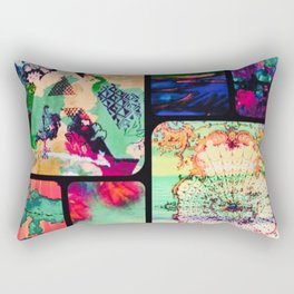 Textured Collage Rectangular Pillow