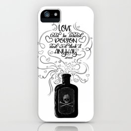 love as poison iPhone Case