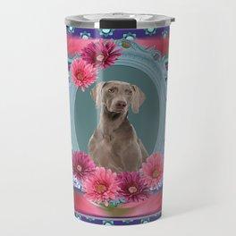 Weimaraner Dog Frame Travel Mug