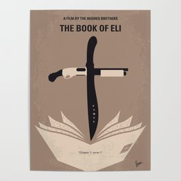 No978 My The Book of Eli minimal movie poster Poster