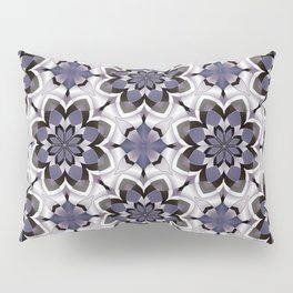 Plum Black and White Mosaic Pattern Pillow Sham