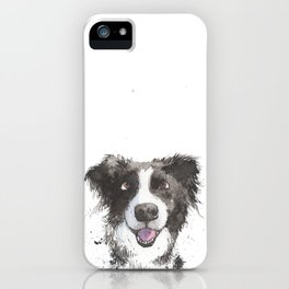 Inky Border Collie iPhone Case