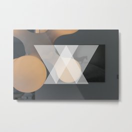Abstract triangle photography  Metal Print