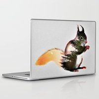 squirrel Laptop & iPad Skins featuring squirrel by KrisLeov