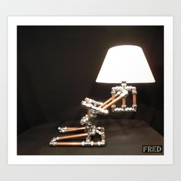 Articulated Desk Lamps - Copper and Chrome Collection - FredPereiraStudios_Page_20 Art Print