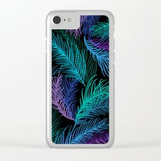 Multicolored palm leaves Clear iPhone Case