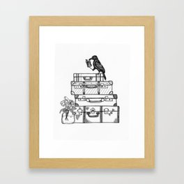 Stacked Suitcases Framed Art Print